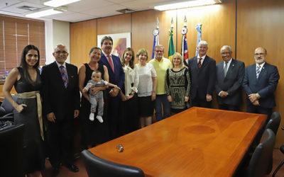 Ingo Hoffmann visita o TRT-15 para agradecer doações do caso Odebrecht