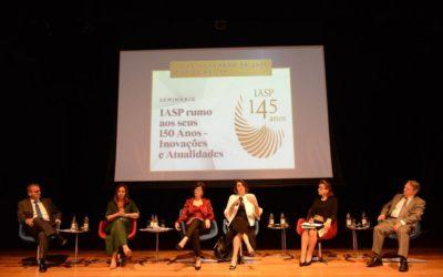 Presidente do TRT, desembargadora Gisela Moraes, aborda os impactos da reforma trabalhista em seminário do IASP
